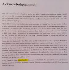 Acknowledgements for phd thesis PLAR BIZ   College Graduate Resume Intended College