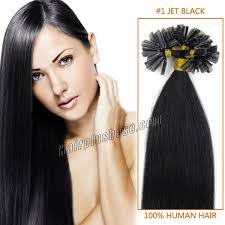 18 inch extensions inch 1 jet black stick tip human hair extensions 100s
