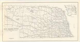 Nebraska State Map File Map Nebraska State Highway System 1955 Png Wikimedia