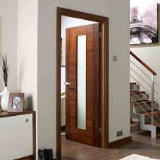 glass door safety aragon walnut veneer door with frosted glass is pre finished