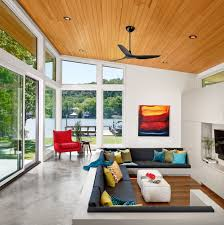 impressive living room interior design with cool wall art on