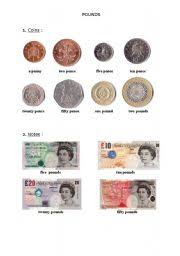 worksheet the pound coins and notes