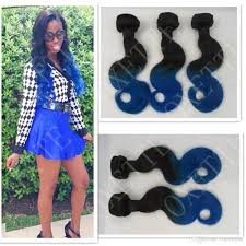 Two Tone Ombre Hair Extensions cheap oxette blue ombre hair weave extensions body wave two tone
