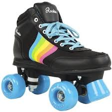 womens roller boots uk rookie forever rainbow v2 black multi roller skates uk 3 ebay