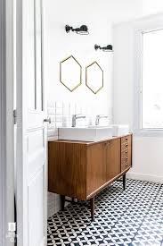 ikea vanity with custom walnut drawer fronts bathroom ideas