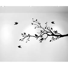 innovative stencils tree branches with leaves and love birds wall tree branches with leaves and love birds wall decal