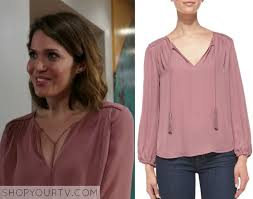 blouse band band society season 1 episode 9 erin s pink neck tie blouse