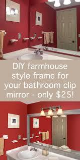Frames For Bathroom Mirrors How To Make A Diy Mirror Frame For The Bathroom Diycandy Com