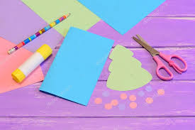 how to make christmas card from colored paper step colored paper