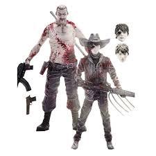 Carl Walking Dead Halloween Costume Walking Dead Comic Carl U0026 Abraham Figure 2 Pack Exclusive