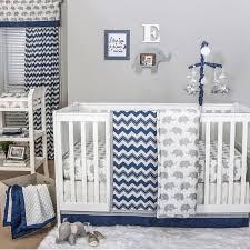 Navy Blue And White Crib Bedding Set The Peanut Shell 4 Baby Crib Bedding Set Navy Blue Zig Zag