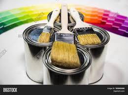 painting paint brushes on color image u0026 photo bigstock