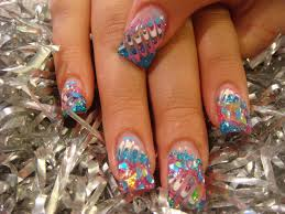 nail art new design with gel paint