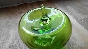 murano glass style size blown hollow green glass