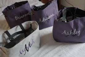 bridal party gift bags set of 6 personalized embroidered tote bags bridal party