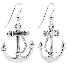 pierced earring candy nautical anchor dangle earrings jewelry