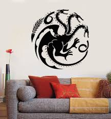vinyl wall decal celtic three headed ornament stickers