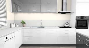 cuisine blanche grise cuisine grise et blanc pas cher sur galerie avec cuisine grise et