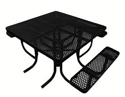 Commercial Picnic Tables by Commercial Picnic Table Plastisol Coated Expanded Metal Ada