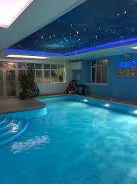 customer project 106 star ceiling over a swimming pool