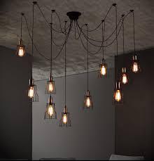 6 8 10 bulb lights edison chandelier suspension ceiling pendant