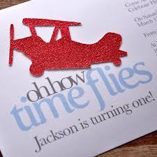 airplane 1st birthday invitations and envelopes we print cut