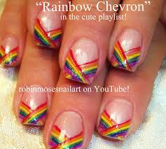 robin moses nail art rainbow watercolor nails