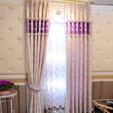 Plum Velvet Curtains Fresh Floral Purple Velvet Jacquard Kids Room Curtains Without