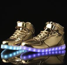 light up shoes gold high top gold chrome led light up shoes hi tops by rave kixx rave kixx