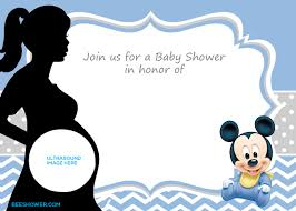 Mickey Mouse Invitation Cards Printable Free Printable Mickey Mouse Baby Shower Invitation Template Baby