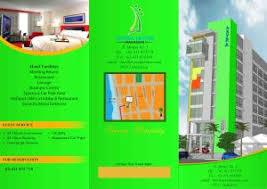 contoh desain brosur hotel contoh desain brosur sederhana untuk pemula rahmatdesign