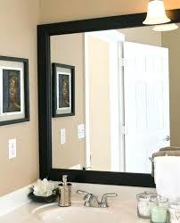 black framed bathroom mirrors frames for large bathroom mirrors juracka info
