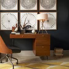 mid century tripod table lamp antique brass west elm