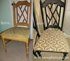 weekend project glamorizing dining chairs hollywood regency style