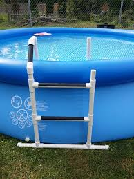 pvc ladder for the pool home projects pinterest pvc projects