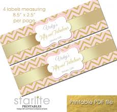 fifty fabulous 50th birthday pink gold bottle labels personalized