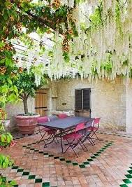 small courtyard designs patio contemporary with swan chairs a cottage small on space and big on design savvy backyard