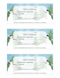 holiday gift certificate snowman design free certificate