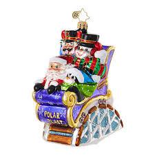 christopher radko ornaments radko santa claus coaster