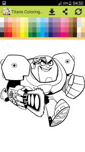 teen titan coloring book android apps google play