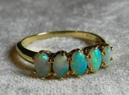 Opal Wedding Ring by Opal Ring Gold 14k Opal Stacking Ring Antique Semi Black Opal Ring