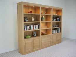Solid Oak Bookcase Uk Glide Bookcase In Bespoke Sizes With Sliding Doors In Solid Wood