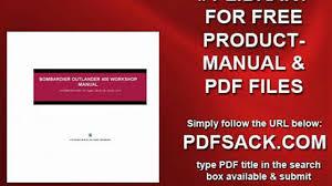 bombardier outlander 400 workshop manual video dailymotion