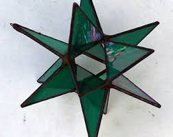 mini stained glass ls small glass stars etsy