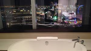 best view of vegas from this luxury room toilet