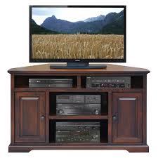 cherry corner media cabinet have to have it legends brentwood 56 in corner tv cart danish