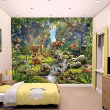 kids wall murals kids wallpaper walltastic animals of the forest