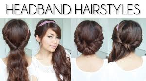 easy party hairstyles for medium length hair easy everyday headband hairstyles for short and long hair