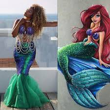 mermaid costume us stock women mermaid costume skirt fancy party cocktail