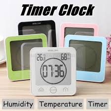 Bathroom Radio Clock Waterproof Digital Shower Clock Timer Alarm Temperature Humidity